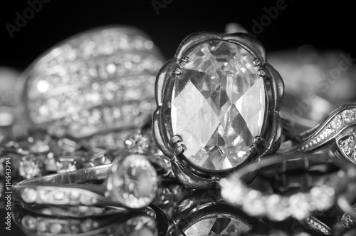 fototapeta na ścianę Silver jewelry.