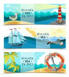 Sea Nautical Horizontal Banners