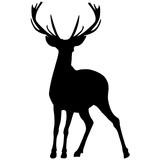 Black silhouette of a deer. Vector illustration