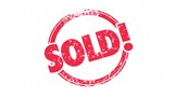 Sold Round Red Stamp Word Sell Success 3d Animation