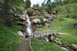 cascata di montagna fiume di montagna escursione escursionismo acqua