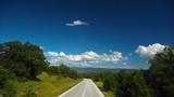 View on the road and landscape in Macedonia, Greece