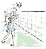 Meisje speelt volleybal