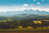 Panorama of Tatra Mountains in summer time