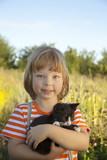 kitten on the shoulder