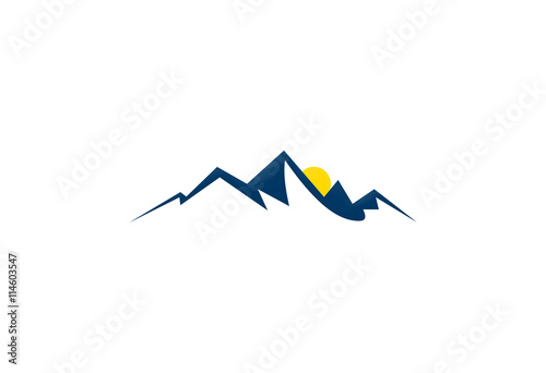 mountain landscape abstract logo