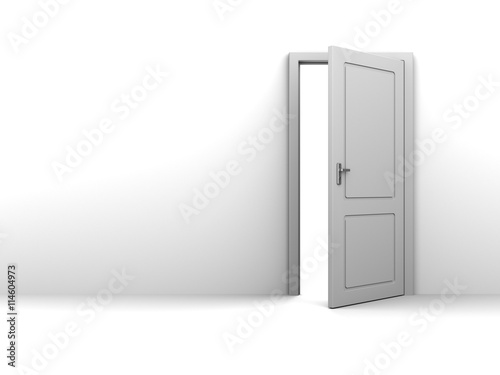 Half Open Door Background