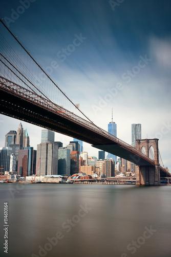 Brooklyn Bridge and downtown Manhattan Canvas Print