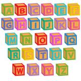 Fototapety alphabet english blocks - vector illustration, eps