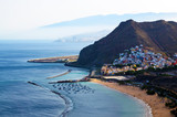 View on Las Teresitas beach near Santa Cruz de Tenerife in the north of Tenerife, Canary Islands, Spain.