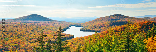 Lake Autumn Foliage Poster