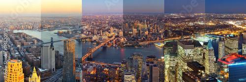 fototapeta na ścianę New York City downtown day and night