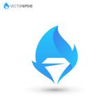 Diamond Flame Logo