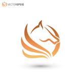 Abstract Horse Logo Concept