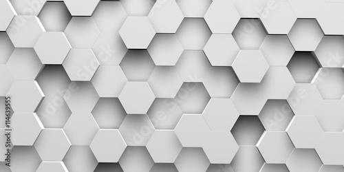 fototapeta na ścianę Digital hexagons background