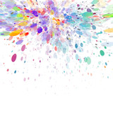 Abstract color splash vector background - 114652161