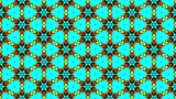 Crazy kaleidoscopic pattern as seamless loop motion graphic