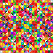 Abstract colorful geometric shapes, mosaic background