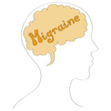 Migraine vector background