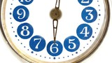 Old, gold Clock Time Lapse loop
