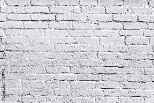 Naklejka old white brick wall detail background