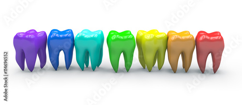 Colorful teeth - 114696552