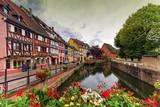 Little Venice, petite Venise, in Colmar, Alsace, France