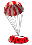 Аббревиатура ОСАГО летит на парашюте