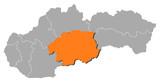 Map - Slovakia, Banska Bystrica