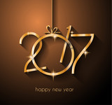 2017 Happy New Year Background for your Flyers and Greetings