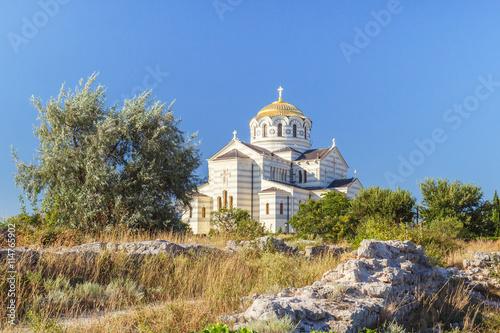 Tuinposter Cathedral Cove Севастополь. Херсонес. Храм святого Владимира.