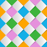 Fototapety Vector Background #Harlequin Check_Colorful