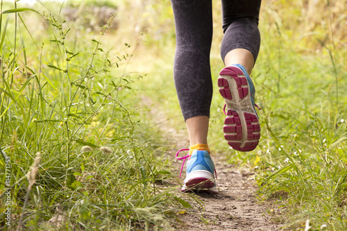 Fototapeta runner training outdoors