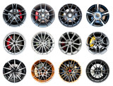 Collection of modern sport wheel