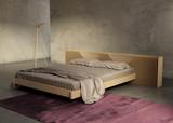 Concrete minimal interior bedroom