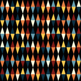 Retro geometric seamless pattern with triangles on black
