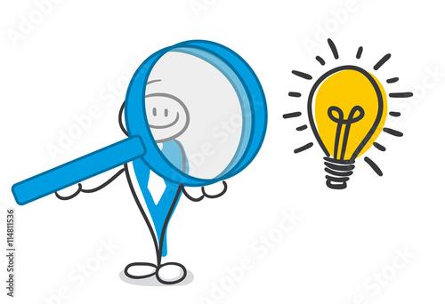 Stick Figure Series Blue / Lupe, Idee