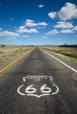Historic US Route 66 as it crosses though a rural area in the state of Arizona. - 114815372