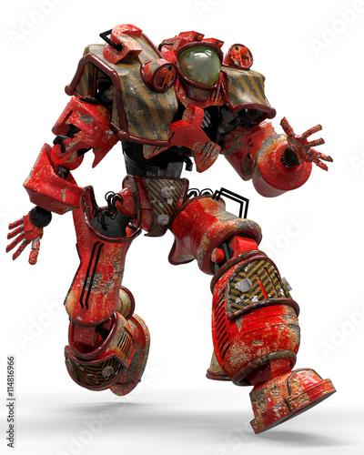 fototapeta na ścianę iron robot