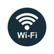 wi-fi point icon on white background