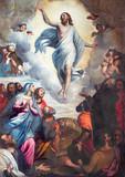 BRESCIA, ITALY - MAY 22, 2016: The painting Ascension of the Lord in church Chiesa di Santa Maria del Carmine by Bernardino Gandino (1587 - 1651). - 114861515