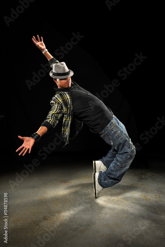 Young African American Hip Hop Dancer Poster
