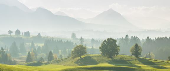 Fototapeta poranna panorama górska