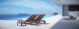 Fototapety luxury swimming pool. 3d rendering
