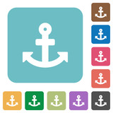 Flat anchor icons