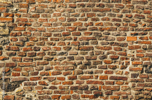 Fototapeta Old red brick wall texture