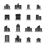 Fototapety building icon set