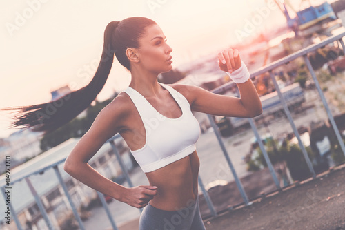 Woman jogging,  - 114973781