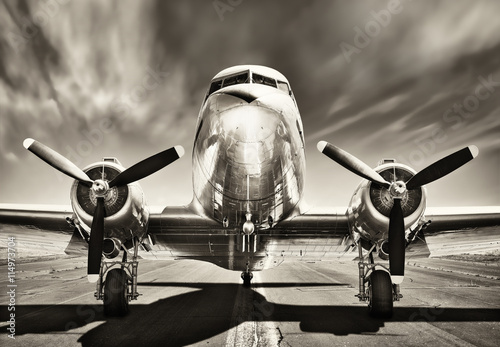 Juliste vintage airplane