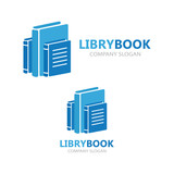 Books vector logo design template
